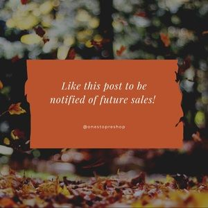 Like this post to be notified of future sales